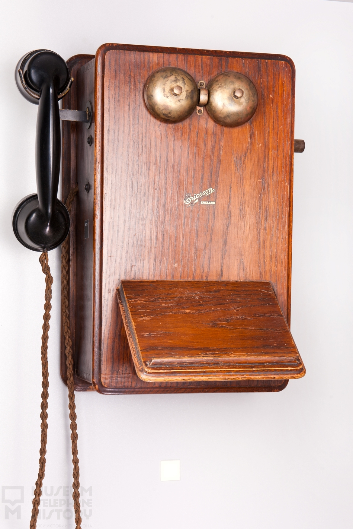 Old fashioned wall mounted telephones 46