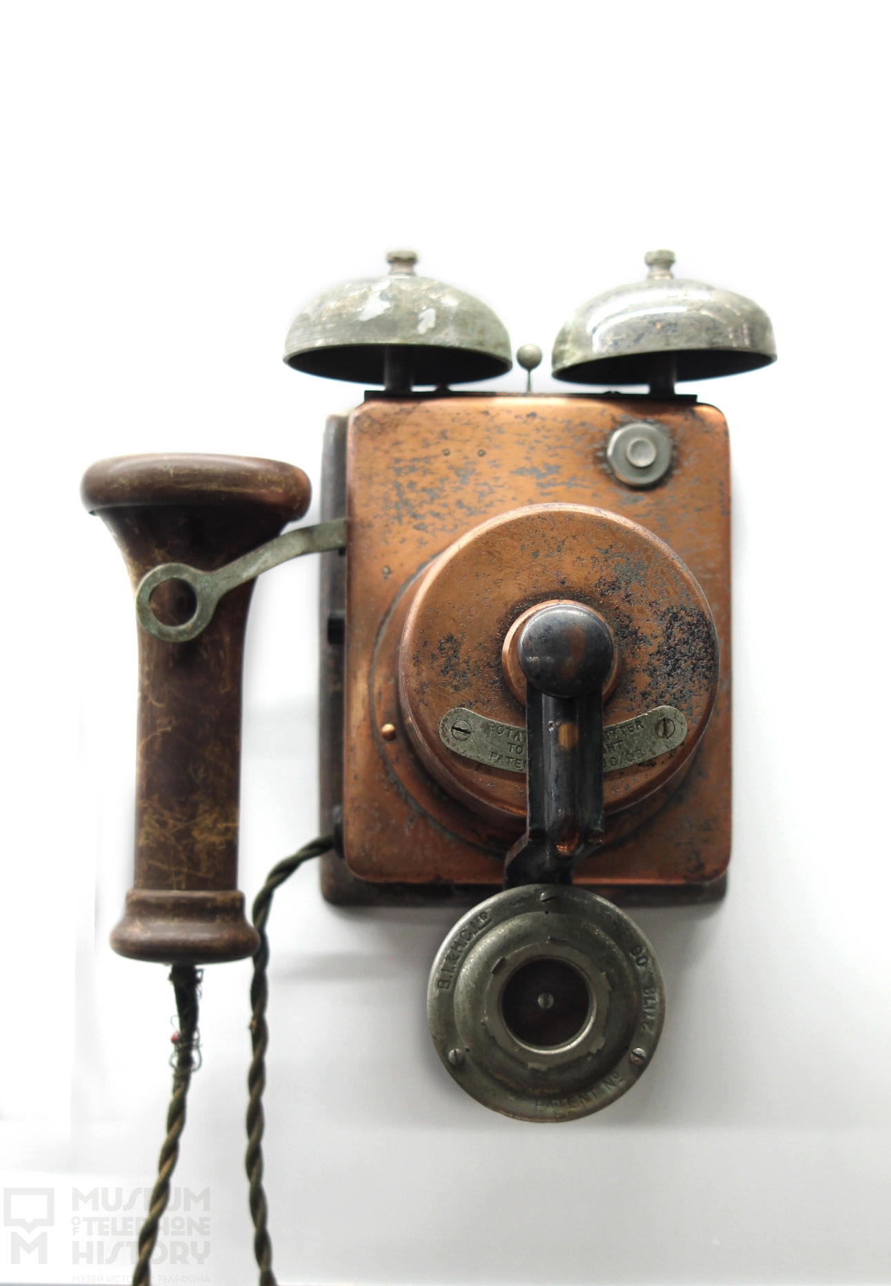 Old fashioned wall mounted telephones 20